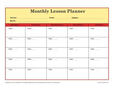 weekly lesson plan templates for elementary teachers elementary lesson plan template for teachers monthly