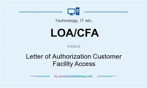 Customer Letter Of Authorization What Does Loa Cfa Definition Of Loa Cfa Loa Cfa Stands For Letter Of Authorization