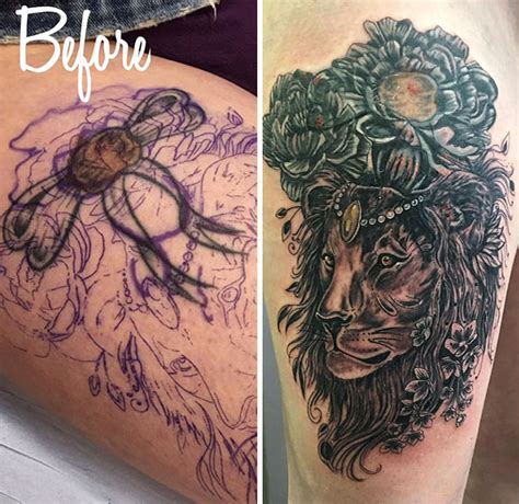 panda tattoo cover up 10 genius birthmark cover up tattoos bored panda