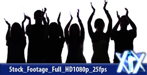 clapping hands silhouettes by xnitrox videohive