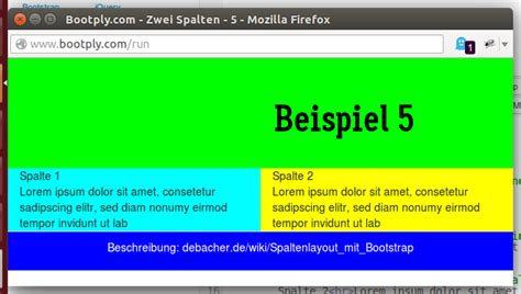 bootstrap tutorial wiki spaltenlayout mit bootstrap debacher wiki