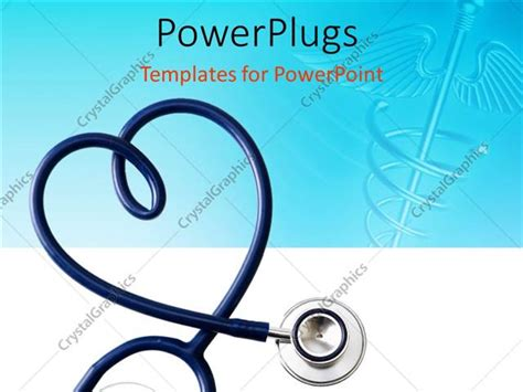 medical symbol powerpoint templates powerpoint template stethoscope in the shape of a heart