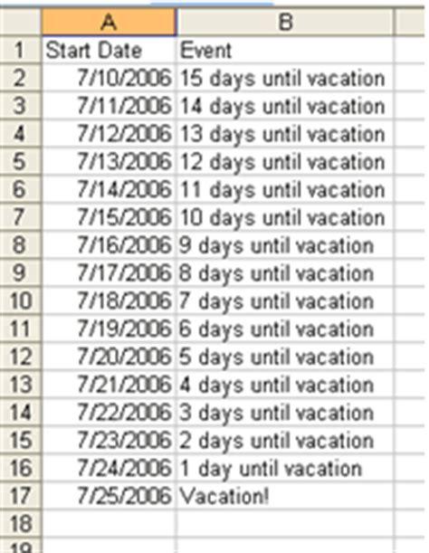 create countdown calendar in outlook newsletter