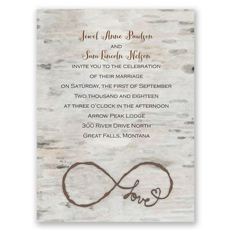 Wedding Invitations How To by For Infinity Invitation Invitations By