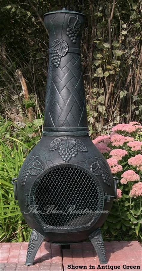 Cast Aluminum Outdoor Fireplace by Chiminea Grapestyle Cast Aluminum Outdoor Fireplace Chimenea