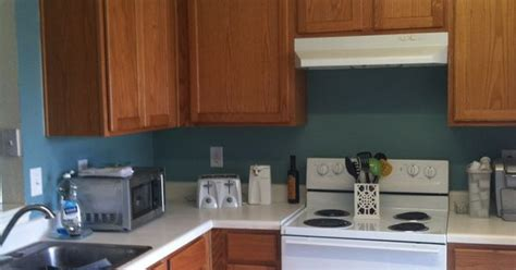 behr venus teal paint oak cabinets kitchen home oak cabinet kitchen kitchens