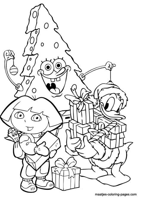 dora christmas coloring pages printable christmas coloring page spongebob as christmas tree and