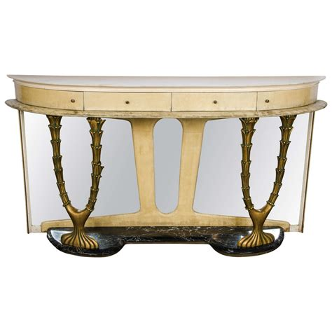 Italian Console Table 1940s Italian Console Table In Parchment For Sale At 1stdibs