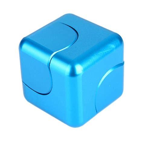 Fidget Cube Penghilang Stres jual trustfinite premium cube fidget spinner light blue