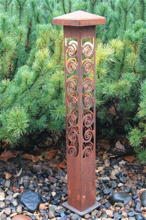 decorative steel bollard lights outdoor