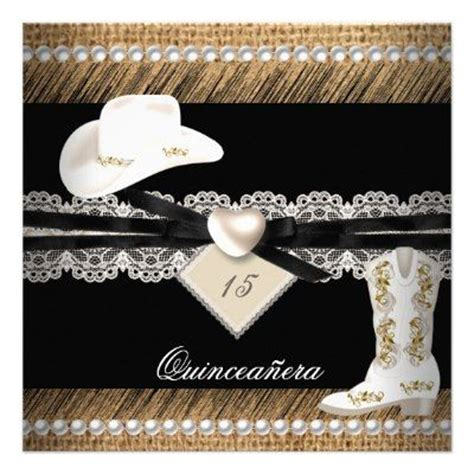 quinceanera cowgirl themes quinceanera rustic burlap cowgirl hat boots party