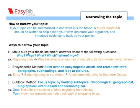 narrow topics for research papers research guide narrowing the topic 3