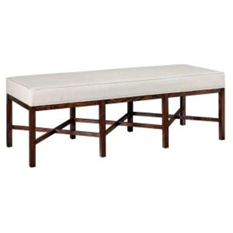 martha stewart bench martha stewart living lombard linen canvas and sable brown