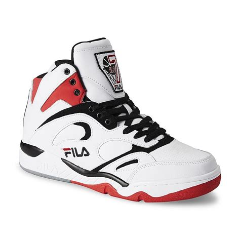 basketball shoes fila fila s kj7 white black high top basketball shoe