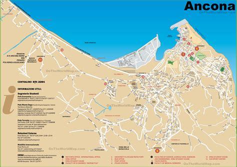 map of ancona italy ancona tourist map