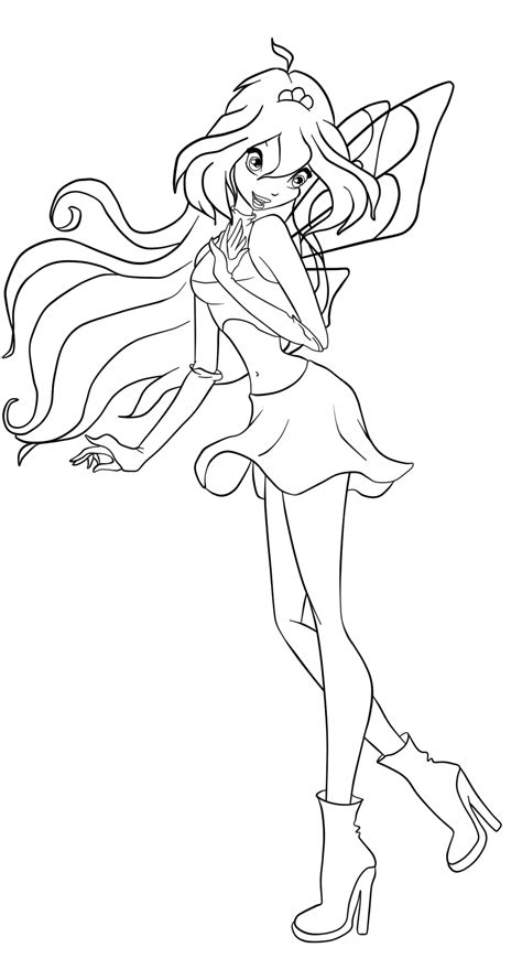 free coloring pages of winx carmix