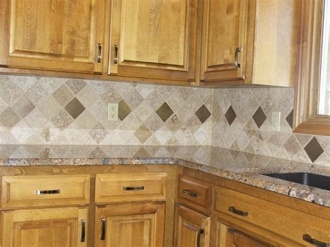 backsplash tile patterns for kitchens decorating gray kitchen backsplash tile with varnished wood wall cabinet and varnished wood