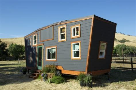 tiny house with deck tiny house on wheels with a secret rooftop deck