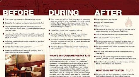 Earthquake Preparedness Brochure Emergency Preparedness Brochure Template