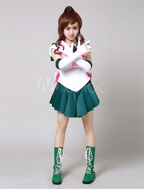 Sailor Moon Sailor Jupiter Makoto Kino Cosplay Costume