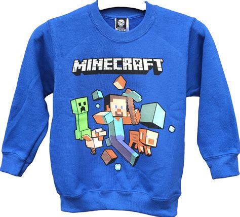 Sweater Minecraft 2 Roffico Cloth official minecraft sweater royal blue run away mine craft jumper ebay