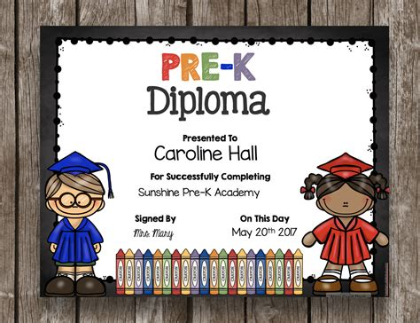 Pre Kindergarten Graduation Certificate Template Professional And High Quality Templates Pre K Graduation Diploma Template