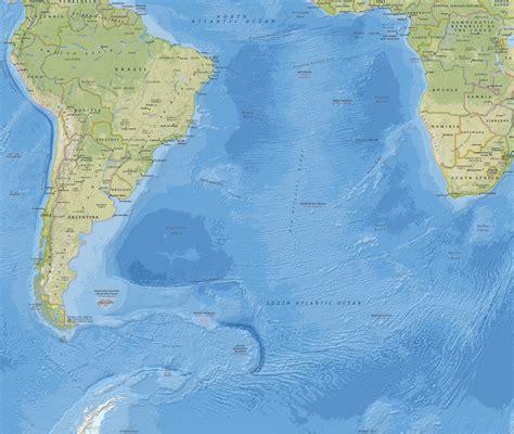 imagenes satelitales oceano atlantico mapa do oceano atl 226 ntico sul