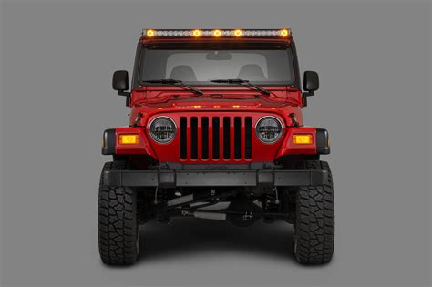 Jeep With Led Light Bar Quadratec J5 Led Light Bar With Clearance Cab Lights Quadratec