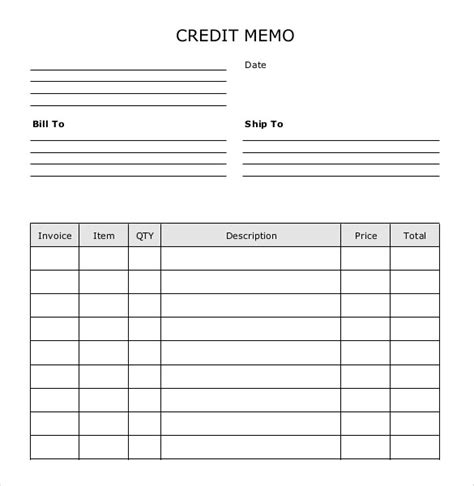 Credit Memo Template blank memo template 7 free word pdf documents