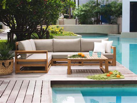 patio settee patio set corner sofa set 5 piece coffee table acacia wood