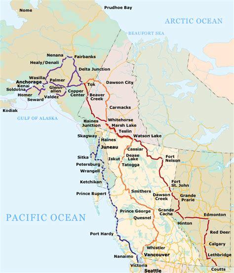 alaska canada highway map margy s musings alcan highway