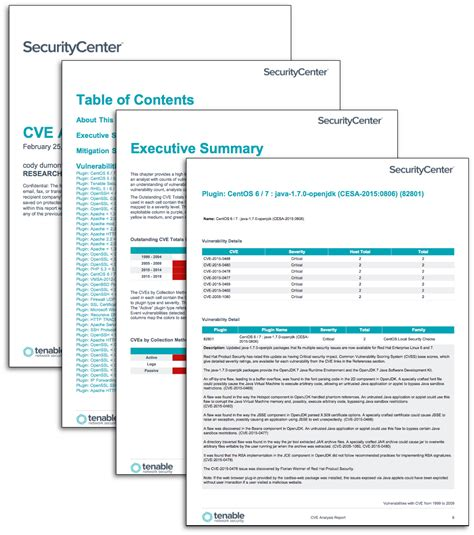cve analysis report sc report template tenable