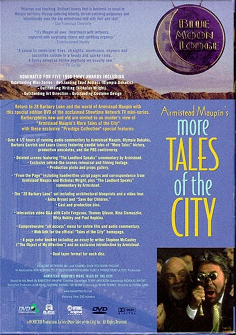 More On Monday Tales Of The City By Armistead Maupin by More Tales Of The City Dvd 1998 Dvd Empire