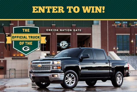 Packers Sweepstakes - chevy packer ultimate fan sweepstakes markquart eau claire wi