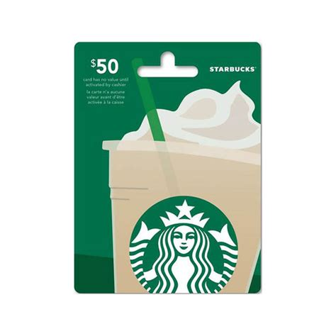 50 Starbucks Gift Card - starbucks gift card 50 london drugs