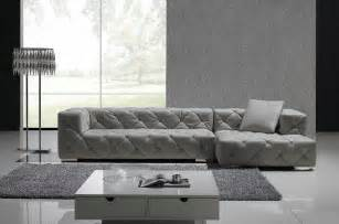 gray leather sectional sofa set modern living