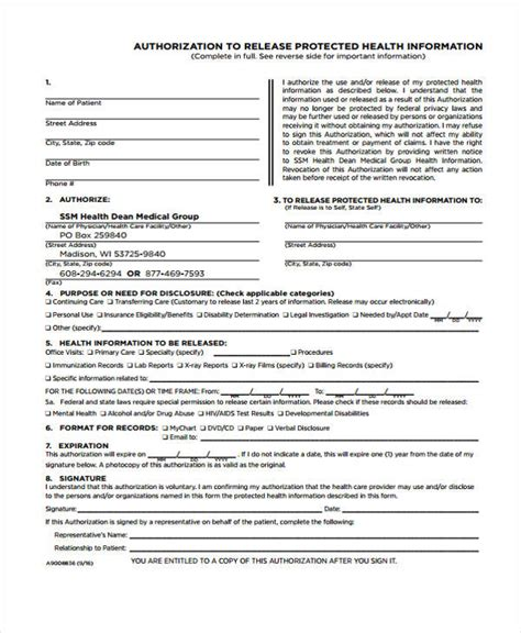 Criminal Record Release Form Nh Sle Release Authorization Form 14 Free Documents In Word Pdf