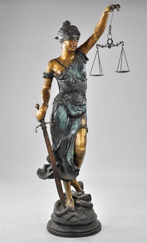 a large bronze statue of themis blind justice 05 20 10