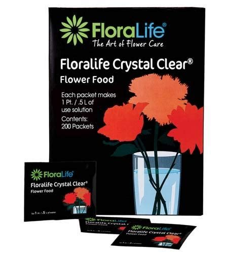 flower food packets floralife crystal clear 174 flower food 300 1qt 1l packet