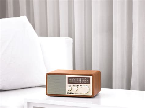 cabinet am fm radio sangean wr 11 wr11 wood cabinet am fm table top radio