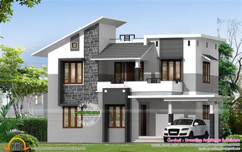 house wall design kerala contemporary house plans images modern home design