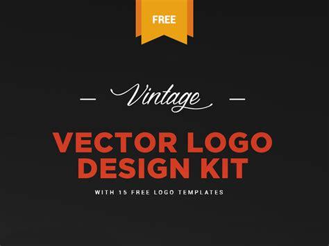 free logo design kit free vintage logo kit 15 vector logo templates by
