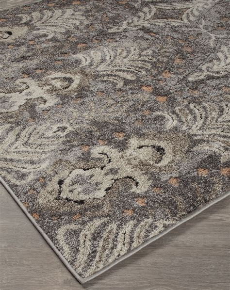 large gray rug vidonia gray and taupe large rug r400311