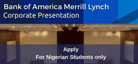 Bank Of America Mba Fellowship Program by Bank Of America Merrill Lynch Corporate Presentation 2016