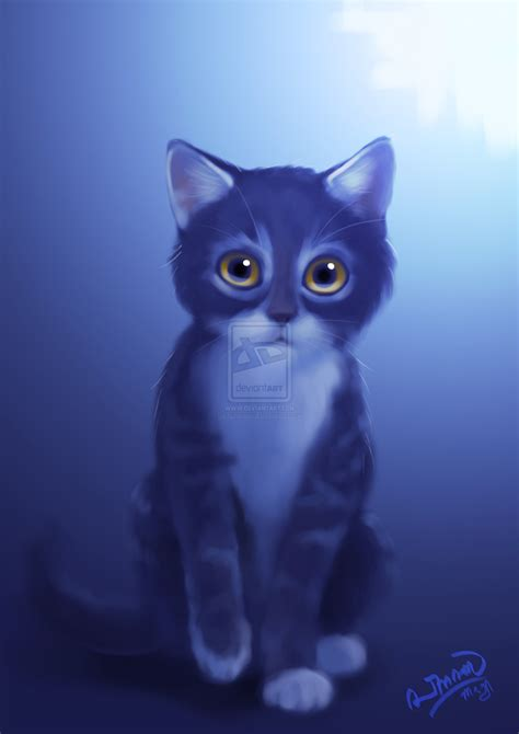 Blue Cat For blue cat by raxanimasi on deviantart