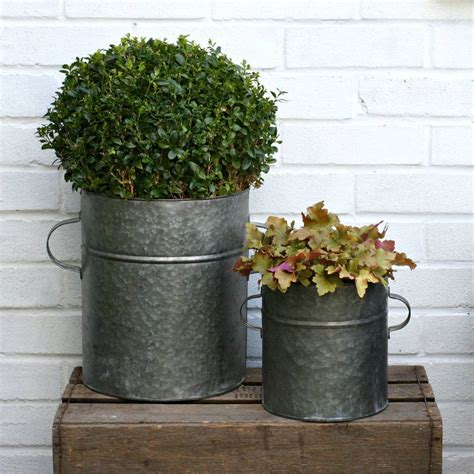bathtub planters two zinc tub planters by magpie living