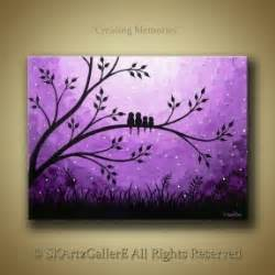 blue flower tree family symbolize happy home decor wall paintings on canvas foter