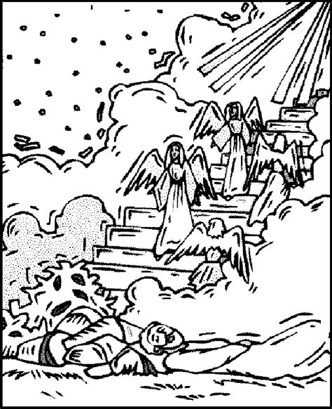 free bible coloring pages jacob s ladder jacob s ladder