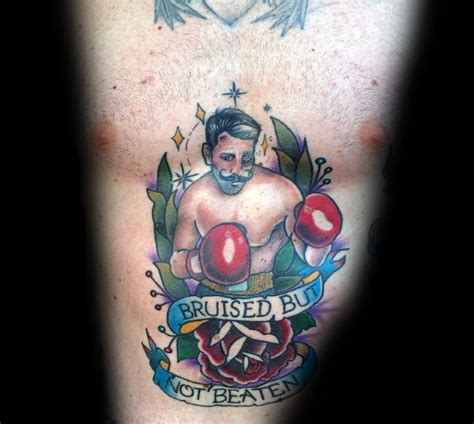 tattoo on chest bruise 50 traditional boxer tattoo designs for men retro boxing