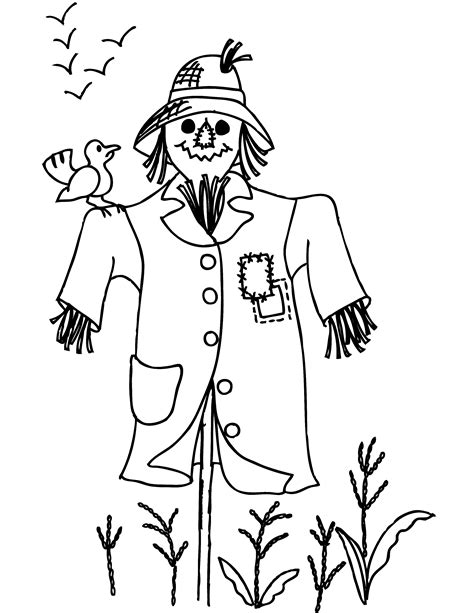 easy scarecrow coloring pages scarcrow color sheet free printable scarecrow coloring